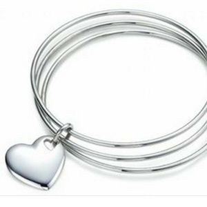 Tiffany & Co Heart Triple Bangle Bracelet